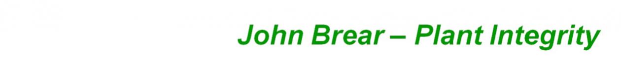 John Brear – Plant Integrity